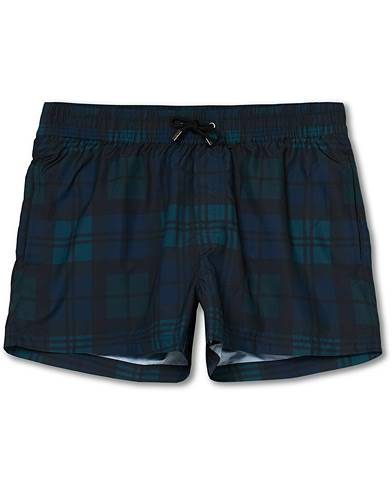 NIKBEN Studio Black Watch Swim Shorts Black/Blue men L Grøn