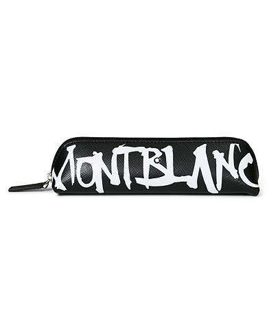 Montblanc Sartorial 2 Pen Pouch Zip Top Calligraphy Black men One size Sort