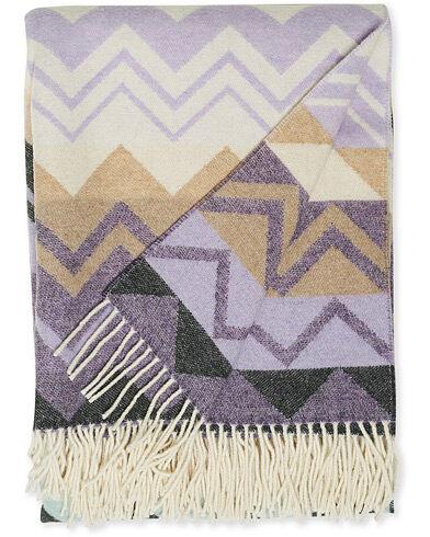 Missoni Home Yvo Zig Zag Wool Throw Multicolor men One size Lilla,Rød,Grøn
