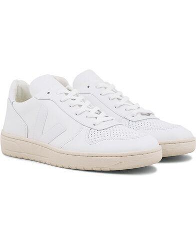 Veja V-10 Leather Sneaker Extra White men 44 Hvid