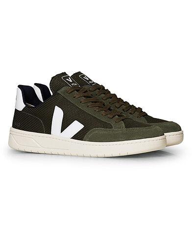 Veja V-12 Mesh Sneaker Olive/White men 43 Grøn