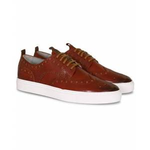 Grenson Sneaker 3 Hand Painted Tan men UK8 - EU42 Brun