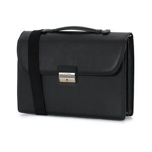 Canali Grain Leather 24h Briefcase Black men One size Sort