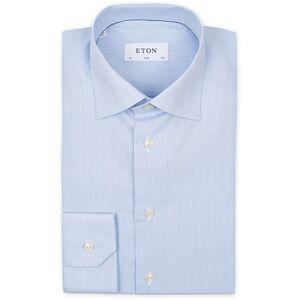 Eton Slim Fit Poplin Thin Stripe Shirt Blue/White men 38 - S Blå