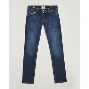 Morris Steve Satin Jeans Dark Wash men W29L32 Blå