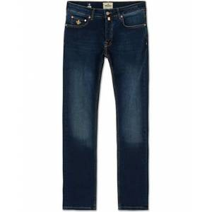 Morris Steve Satin Jeans Dark Wash men W33L34 Blå