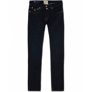 Morris Steve Satin Jeans Dark Blue men W31L32 Blå