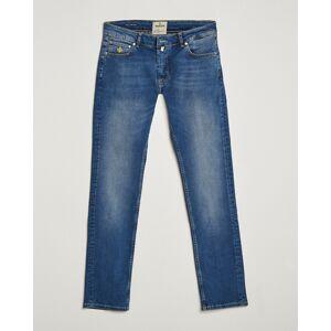 Morris Steeve Satin Stretch Jeans Semi Dark Wash men W31L34 Blå