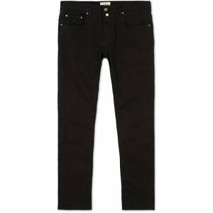 Morris Steve Satin Stretch Jeans Black men W32L30 Sort