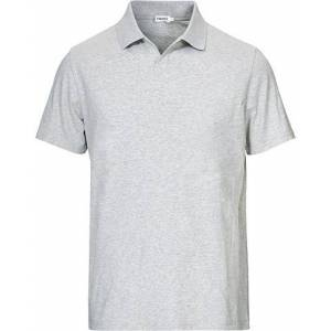 Filippa K Soft Lycra Polo T-Shirt Light Grey Melange men M Grå