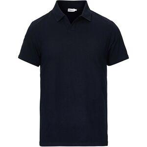 Filippa K Soft Lycra Polo T-Shirt Navy men S Blå