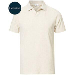 Filippa K Soft Lycra Polo T-Shirt Beige Melange men S Beige