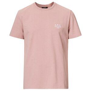 A.P.C. Raymond Short Sleeve T-Shirt Rose men S Pink