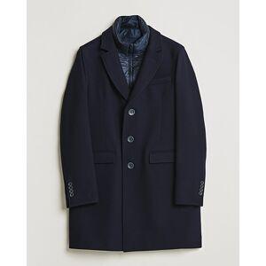 Herno Wool Zip Coat Navy men 50 Blå