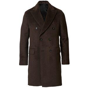 Oscar Jacobson Saul Delux Llama Wool Double Breasted Coat Brown men 50 Brun