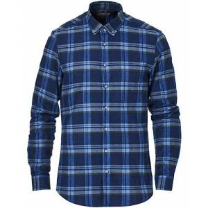 Calvin Klein Slim Fit Soft Touch Check Shirt Blue men 38 - S Blå