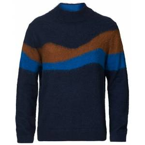 PS Paul Smith Mohair Mountain Knit Navy men XL Flerfarvet