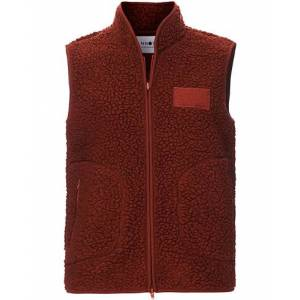 NN07 Mort Fleece Vest Rost men M Rød