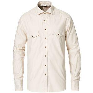 Stenströms Stenströms Slimline Twill Western Shirt Beige men S Beige