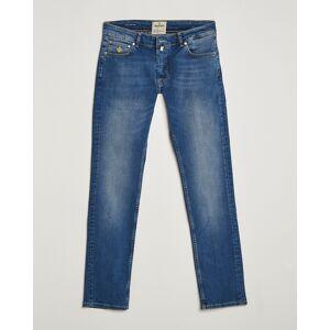 Morris Steeve Satin Stretch Jeans Semi Dark Wash men W34L32 Blå