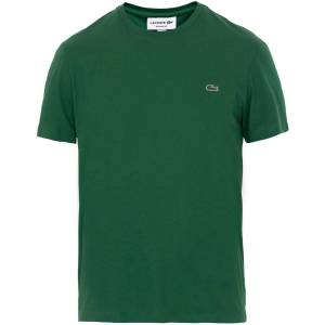 Lacoste Crew Neck Tee Vert Green men 6 - XL Grøn