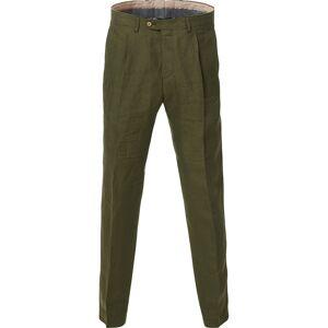Oscar Jacobson Delon Linen Trousers Green men 48 Grøn