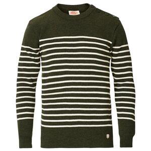 Armor-lux Molène Striped Sweater Green/Nature men XL Grøn