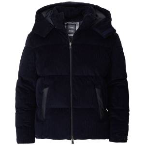 Herno Laminar Corduroy Down Jacket Dark Blue men 46 Blå
