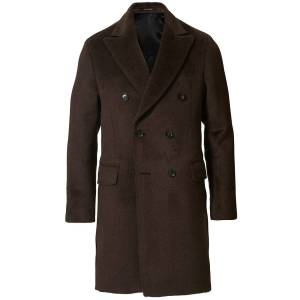 Oscar Jacobson Saul Delux Llama Wool Double Breasted Coat Brown men 52 Brun