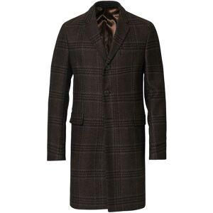 Giorgio Armani Emporio Armani Wool/Cashmere Coat Brown Check men 52 Brun