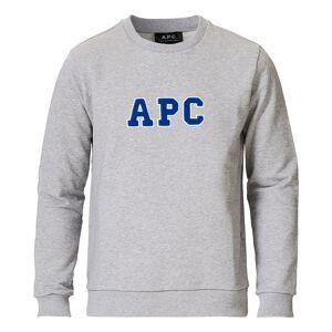 A.P.C. Malcolm College Sweatshirt Light Grey men S Grå