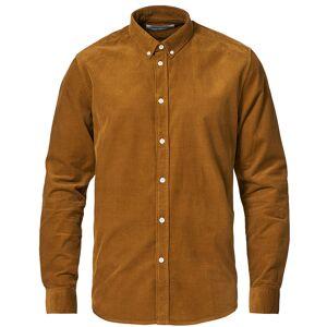 Samsøe & Samsøe Liam Corduroy Shirt Bronze Brown men S Brun