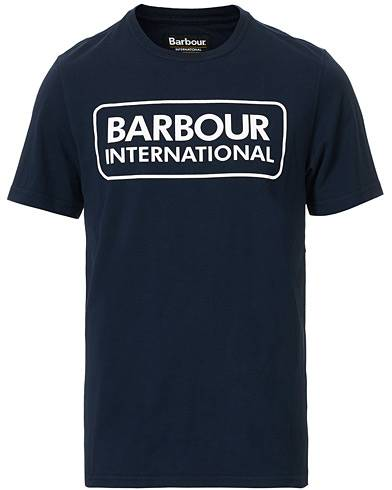 Barbour International Large Logo Crew Neck Tee Navy men M Blå