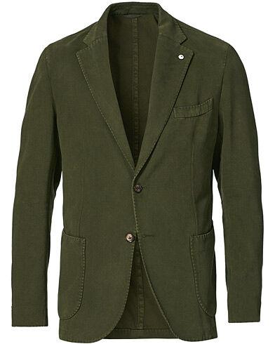 L.B.M. 1911 Jack Brushed Cotton/Cashmere Blazer Olive men 48 Grøn