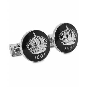Skultuna Cuff Links The Crown Silver/Baroque Black men One size Sort