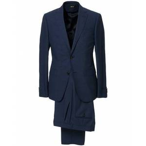 Z Zegna Slim Fit Tropical Wool Suit Navy Blue men 48 Blå