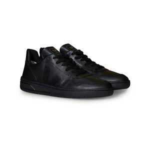 Veja V-10 Leather Sneaker Black/Black men 45 Sort