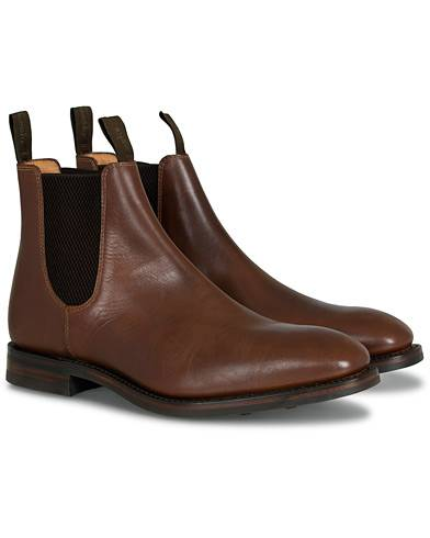 Loake 1880 Chatsworth Chelsea Boot Brown Waxy Leather men UK8,5 - EU42,5 Brun