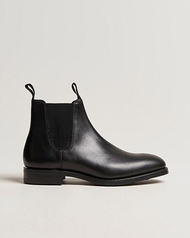 Loake 1880 Chatsworth Chelsea Boot Black Calf men UK8 - EU42 Sort