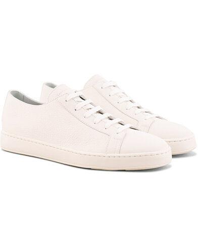 Santoni Cleanic Sneaker White Calf men UK10 - EU44 Hvid