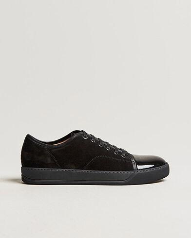 Lanvin Patent Cap Toe Sneaker Black/Black men UK5 - EU39 Sort