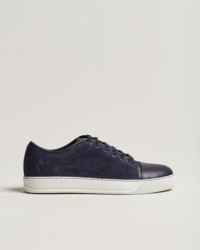 Lanvin Nappa Cap Toe Sneaker Navy men UK10 - EU44 Blå
