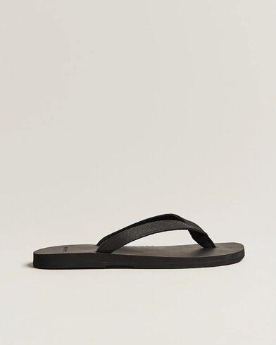 The Resort Co Saffiano Leather Flip-Flop Black/Black men 42 Sort