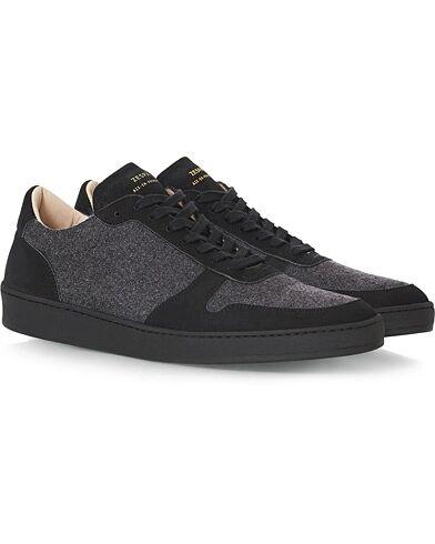 Zespà ZSP23 Flannel/Nubuck Sneakers Dark Grey men 40 Grå