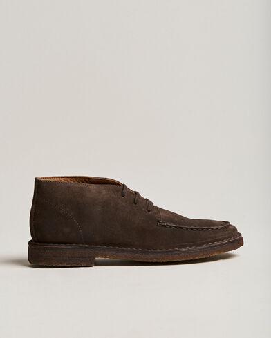 Drake's Crosby Moc-Toe Suede Chukka Boots Dark Brown men UK7,5 - EU41,5 Brun
