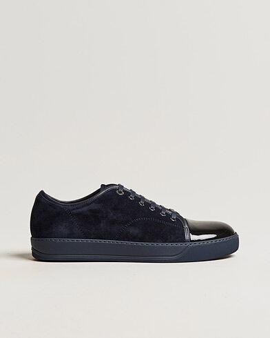 Lanvin Patent Cap Toe Sneaker Navy/Navy men UK6 - EU40 Blå