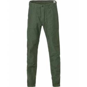 orSlow Slim Fit Original Sateen Fatigue Pants Army Green men 1 - XS Sort