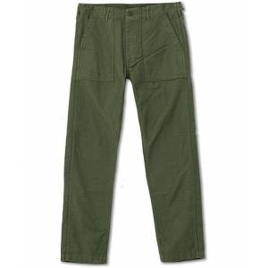 orSlow Slim Fit Original Sateen Fatigue Pants Army Green men 5 - XL Grøn