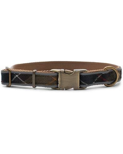 Barbour International Reflective Tartan Dog Collar Classic men L Brun