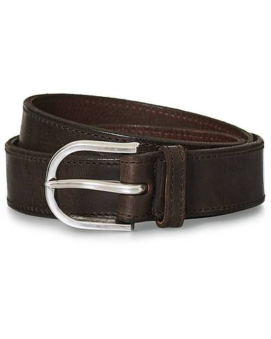Orciani Narrow Leather Belt 3 cm Dark Brown men 95